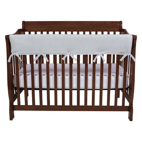Trend Lab Waterproof CribWrap Rail Cover - for Wide Long Crib Rails Made to Fit Rails up to 18  Around Gray Wide Front Rail - 1 pc.