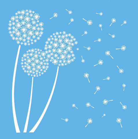DecoArt Americana Mixed Media Stencil, 12 by 12-Inch, Dandelion Оne Расk