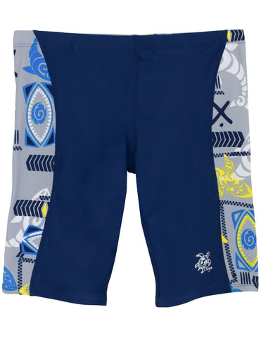 Tuga Boys Jammer Swim Short 2-14 Years, UPF 50+ Sun Protection Swim Bottom 11/12 yrs (26-28  Waist) Fanatic