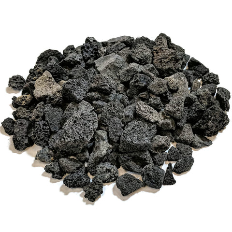 Midwest Hearth Lava Rock for Fire Pits and Gas Log Sets, Black 5/8  to 1-1/2  (10-lb Bag) 10-lb Bag