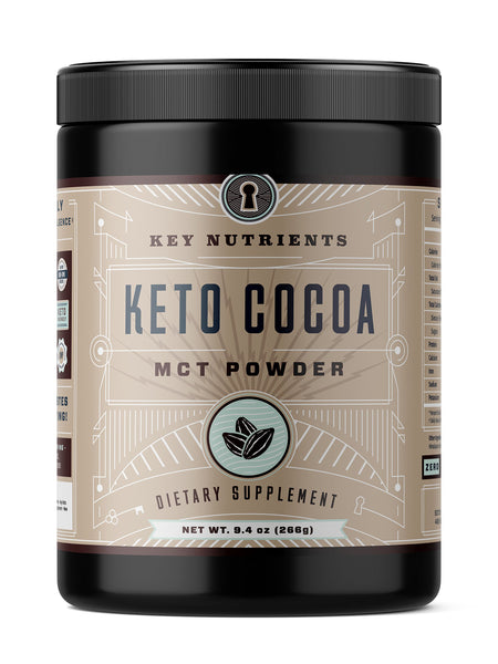 Keto Cocoa, Keto Hot Chocolate: MCT Oil Powder for Low Carb Ketogenic & Paleo Diet, Derived from Coconuts, Keto Chocolate Drink (20 Servings)