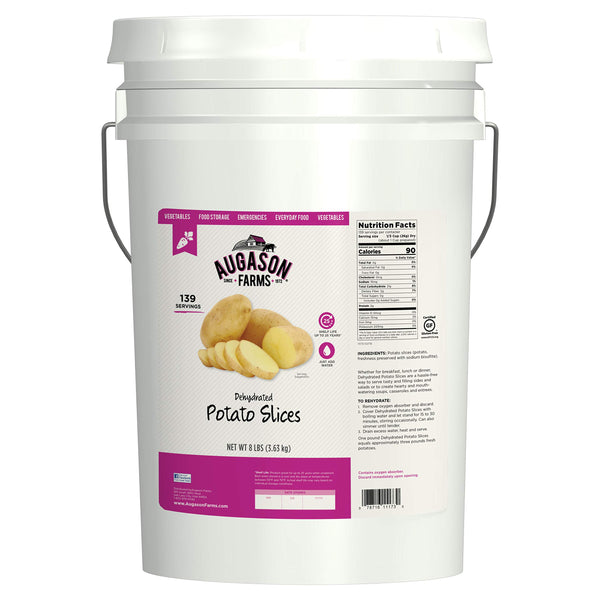 Augason Farms Dehydrated Potato Slices Emergency Food Storage 10 Pound Pail