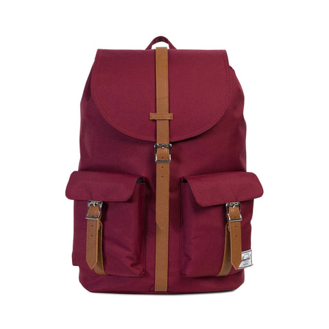 Herschel Supply Co. Dawson Backpack, Windsor Wine/Tan Synthetic Leather,One Size