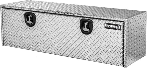 Buyers Products Diamond Tread Aluminum Underbody Truck Box w/ T-Handle Latch (24x24x60 Inch) 24x24x60 Inch