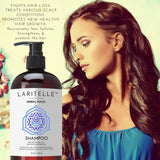 Laritelle Organic Hair Loss Prevention Shampoo 17.5 oz + Conditioner 16 oz + Bonus Post-shampoo Treatment 2 oz | Unscented & Hypoallergenic | NO GMO, Sulfates, Gluten, Alcohol, Parabens, Phthalates Herbal Magic Shampoo + Conditioner + Bonus Treatment