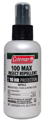 Coleman 100    DEET Insect Repellent, 100 Max Tick and Mosquito Repellent Pump 4 Oz