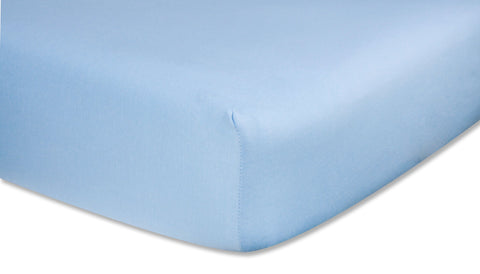 Trend Lab 100    Cotton Solid Jersey Sheet in Blue