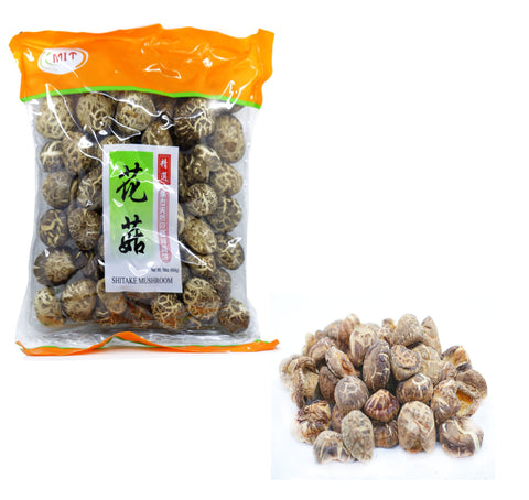 MIT Shitake Mushrooms, Nature Grade A Dried Mushrooms, Net Wt. 16oz (454g) (1LB) 1LB
