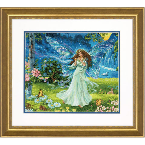 Dimensions Gold Collection Counted Cross Stitch Kit, Spring Fairy, 16 Count Grey Aida, 14'' x 12''