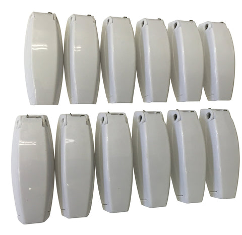 12 PCS. - RV CAMPER TRAILER BAGGAGE DOOR CLIP COMPARTMENTCATCH HOLDERS 888 WHITE