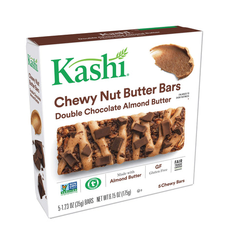 Kashi Chewy Nut Butter Bars, Double Chocolate Almond Butter, 5 ct