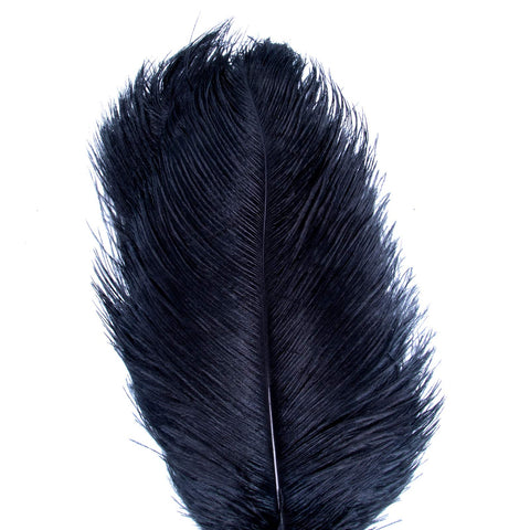 AWAYTR Natural 18-20 inch(45-50cm) Ostrich Feathers Plume for Wedding Centerpieces Home Decoration Black 10Pcs