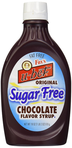 Fox's Ubet Chocolate Syrup, Sugar-Free, 18 Ounce Bottle