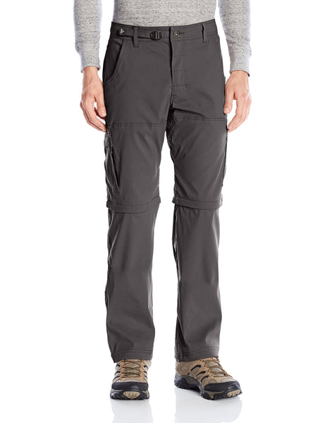 prAna Stretch Zion Convertible Pant Charcoal 33W 34L