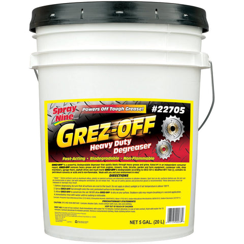 Spray Nine 22705 Grez-Off Heavy Duty Degreaser - 5 Gallon Pack of 1
