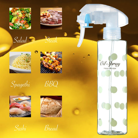 Olive Oil Sprayer Oil Mister Kitchen and Grill Cooking Oil Bottle Refillable Non-Aerosol (200ml/7oz) Plastic