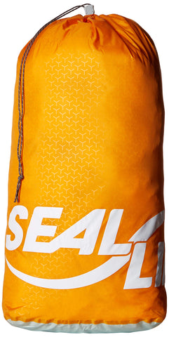 SealLine Blocker Cinch Dry Sack Water-Resistant Stuff Sack Orange 30-Liter