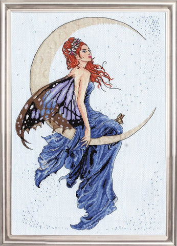 Design Works - Blue Moon - Counted Cross Stitch Kit 2909 with Gift Card, 12 by 18-inches