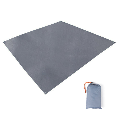 TRIWONDER Waterproof Rain Fly Hammock Tarp Tent Footprint Ground Cloth Camping Shelter Floor Saver for Camping Hiking Backpacking Beach Picnic Grey - 84.6 x 84.6 inches
