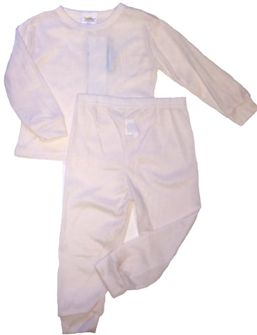 Royal Boys Thermal Long Underwear Set Ivory 18 Months