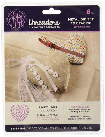 Threaders TH-MD-13 Nesting Die Set-Heart, Silver