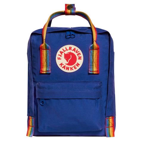 Fjallraven - Kanken Mini Classic Backpack for Everyday Deep Blue/Rainbow Pattern