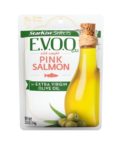StarKist Selects Pink Salmon in Extra Virgin Olive Oil, 2.6 Pouch (Pack of 12) Pink Salmon in Olive Oil Pack of 12