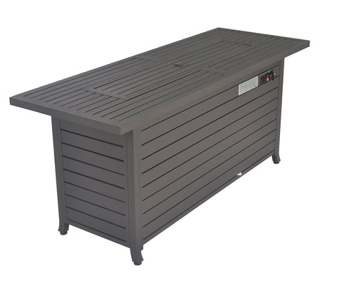 Legacy Heating CDFP-S-CB-M Aluminum fire Table, 56.7 X21.3 X24 , MOCHA Fire Pit