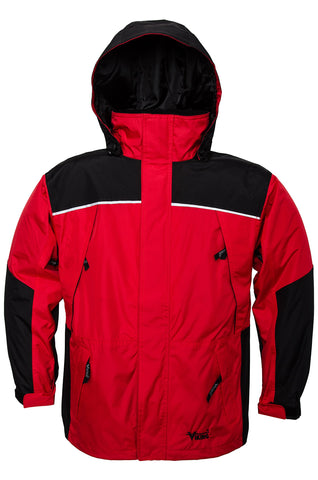 Viking Men's Tempest Classic Waterproof Rain Jacket XX-Large Red/Charcoal