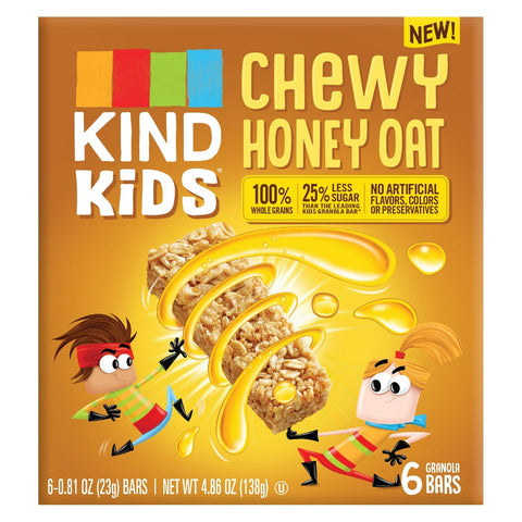 KIND Kid's Chewy Honey Oat Granola Bars 4.86oz, pack of 1