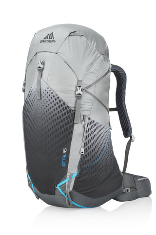 Gregory Mountain Products Women's Octal 55 Liter Ultralight Multi-Day Hiking Backpack | Backpacking, Hiking, Travel | Full-Featured Ultralight Construction, Raincover Included, Durable Strap System Extra Small Frost Grey