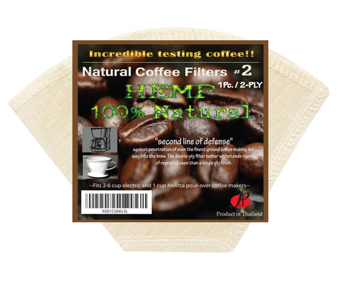 P&F Natural Reusable Cone Coffee Filters #2 Melitta Style, No Harmful Chemical, All Natural (1, 2-Ply) 1