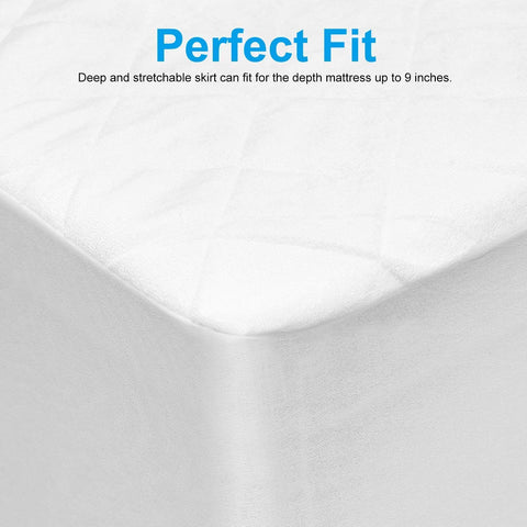 Adoric Crib Mattress Protector, Ultra Soft, Breathable Crib Protector