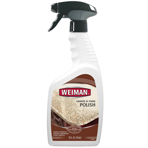Weiman Granite Stone Polish - 24 Ounce - Streak-Free, pH Neutral Formula for Daily Use on Interior and Exterior Natural Stone