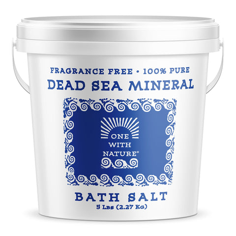 100    Pure Dead Sea Mineral Bath Salt 5Lb Frag Free Fragrance Free