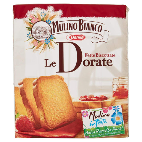 Mulino Bianco Le Dorate Fette Biscottate Golden Rusks From Italy 11.1 oz. (315g)