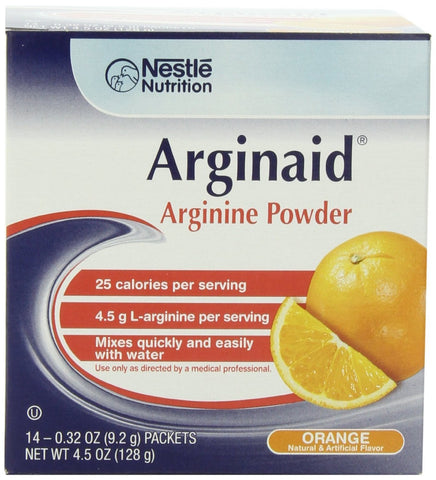 Arginine Supplement Arginaid Orange 9.2 Gram Individual Packet Powder (Box of 14)