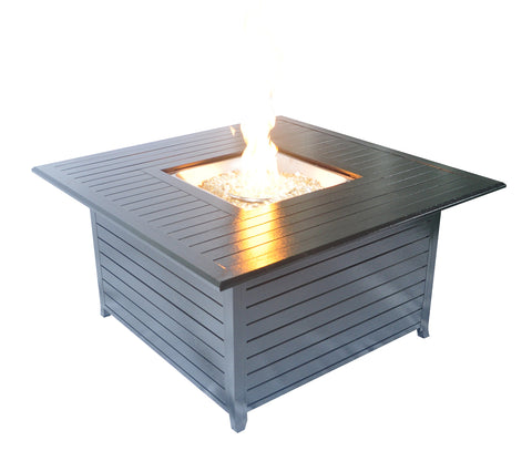 Legacy Heating v-CDFP-S-CA Square Aluminum Propane Fire Table, 44.88  x 44.88  x 24 , Hammered Black
