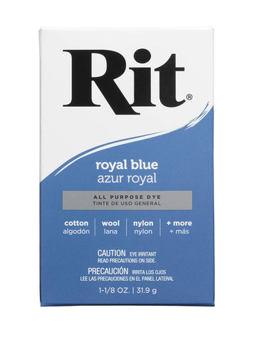 Rit Purpose Powder Dye, Royal Blue, 1-1/8 oz