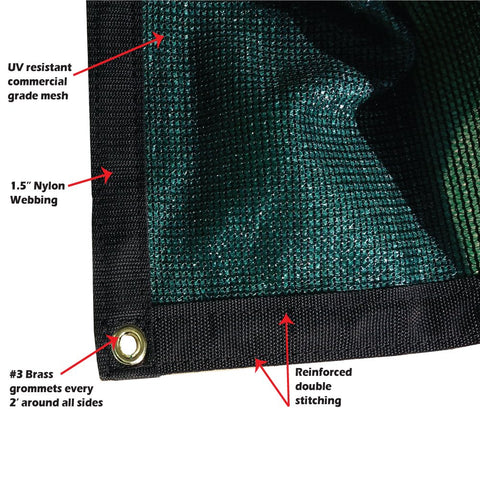 XTARPS MP - Mighty Products 90    Shade Mesh/Net/Cloth/Tarp 8' x 20' Green