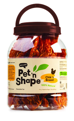 Pet 'n Shape Chik 'n Breast Natural Dog Treats Chicken 2 Pounds