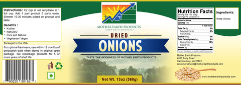 Mother Earth Products Dehydrated Onions Jar
