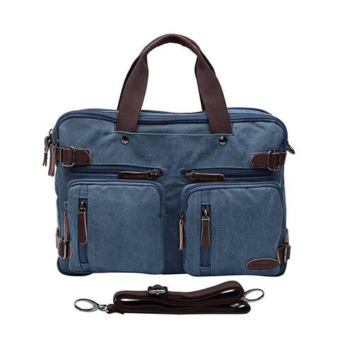 Laptop Backpack,Multifunction Briefcase Messenger Bag 15.6 Inch Laptop Bag for Men,Women Blue