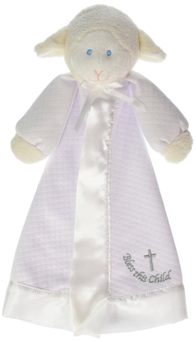 Mary Meyer Christening Lamb Blanket - 14 Inches Christening Blanket