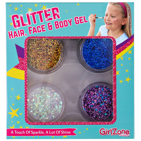 Makeup For Girls - Kids Makeup - Kids Makeup Kit For Girls - Face, Hair & Body Cosmetic Glitter - Great Birthday Present Gifts Idea For Girls Of All Ages.