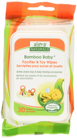 Aleva Naturals Bamboo Baby Pacifier and Toy Wipe