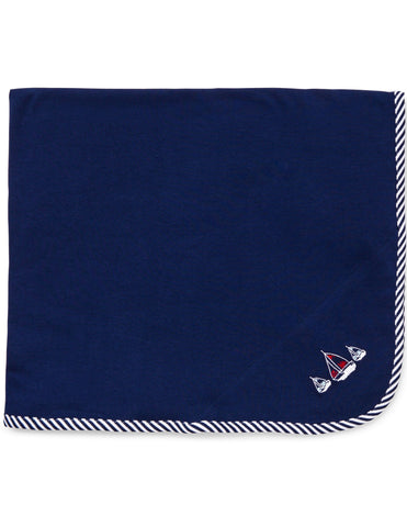Little Me Baby Boys' Blanket One Size Navy