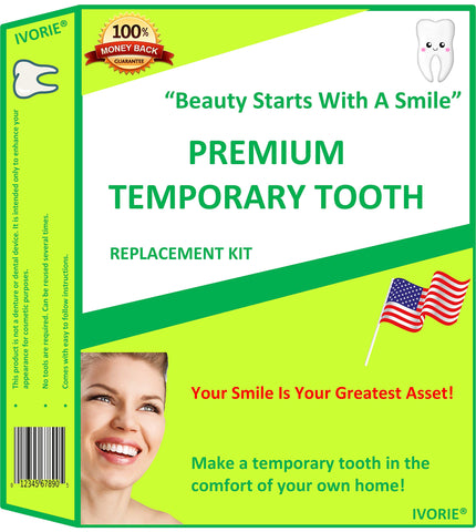 Temporary Tooth Replacement Kit Cosmetic DIY Tooth Replacement Missing Tooth Make Your Own Teeth Homopolymer Dental Tool Utility Cup