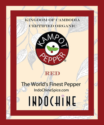 Organic Kampot Pepper - Rare Cambodian Peppercorns Red 8 Ounce 8 oz