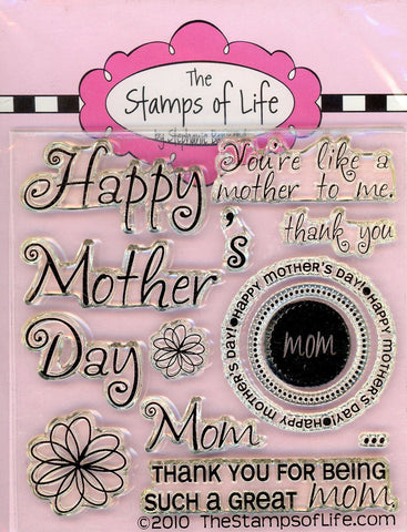 Happy Mothers Day Stamps for Card-Making and Scrapbooking Supplies by The Stamps of Life - All4Moms